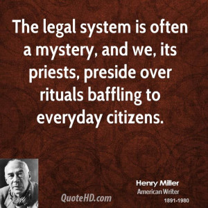 Henry Miller Legal Quotes