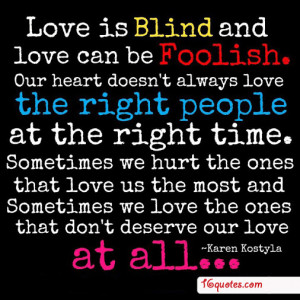 blind love quotes