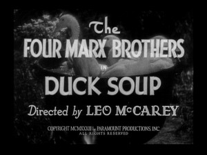 Duck Soup 1933 movie title