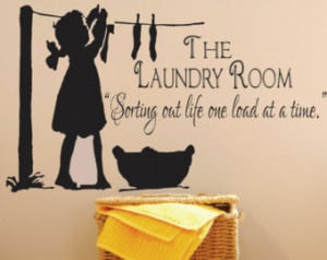 Laundry Room Decal -Sorting Out Life . Vinyl wall decal, laundry quote ...
