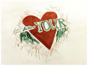 art, follow, heart, love, quotes, typography