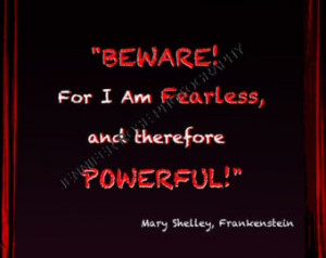mary shelley frankenstein quotes Mary Shelley Frankenstein Goth