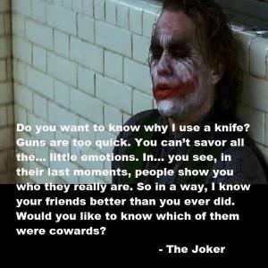 Joker's quote.