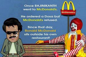 Rajinikanth at McDonald's