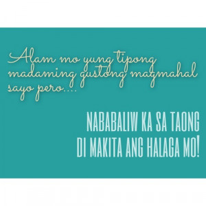 Best Tagalog Love Banat Quotes