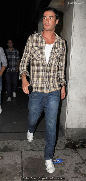 Jack Tweed in Jack Tweed at the Embassy Club wearing a checked shirt ...