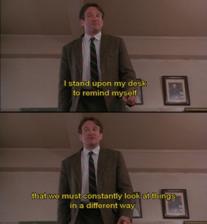 Dead Poets Society (1989) his best movie by far and one of my all time ...