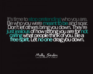 ... quote submitted by mollyheartsall13don't let others bring you down