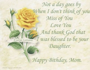 ... in heaven quotes | That Fallen' Angel: Happy Birthday Mom...I Miss You
