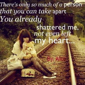 apart, broken, girl, heart, lyrics, photo, photograph, photography ...