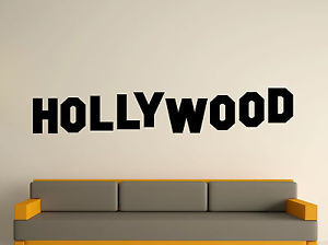 ... -ART-STICKER-DECAL-MURAL-TEXT-QUOTE-DECORATIVE-FAMOUS-HOLLYWOOD-SIGN