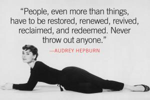 Audrey Hepburn Quotes About Love ~ Audrey Hepburn Love Quotes ...