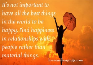 Find Happiness In Relationship With people