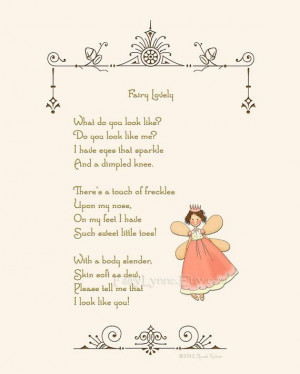 Original Fairy poem, 8x10 digital download printable image by ...