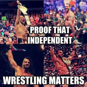 Daniel Bryan, CM Punk, Seth RollinsIndependence Wrestling, Pro ...
