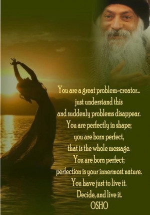 Osho Quote Perfection