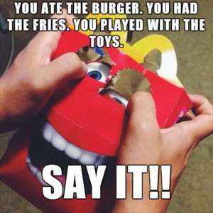 McDonald's happy meal boxes