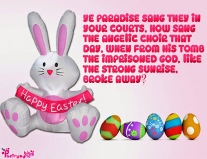 Happy Easter Day Quote Image