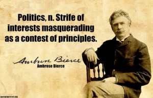 Ambrose Bierce on politics.