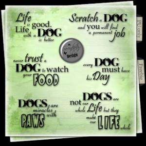 Freebie Wordart: Dog Quotes