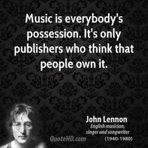 John Lennon Music Quotes