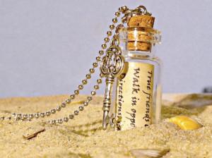 Message in a Bottle Necklace, Glass Bottle Necklace, Friendship ...