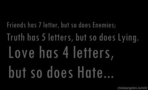 English quotes and sayings positive cute hate love