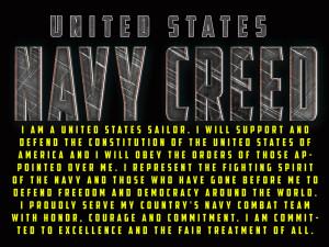 Navy Creed Poster (NCV1)