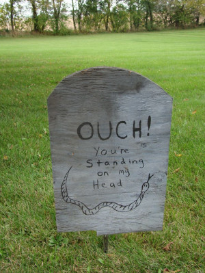Halloween decoration - funny tombstone