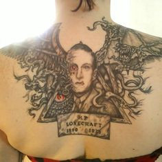 tattoo ode to H.P. Lovecraft by Ashlee Kuschner More