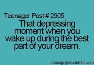 depressing, dream, quotes, sayings, teen post, true, waking up