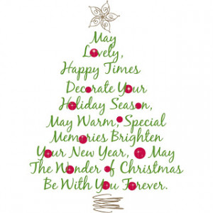 Christmas Tree Quote Wall Decal