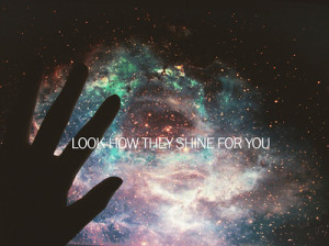 ... space hand love stars quote quotes quotation quotations typography