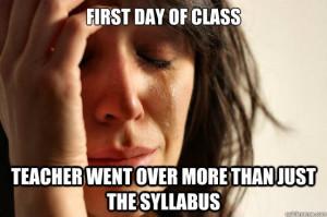 Syllabus Week: 10 Back To School Memes