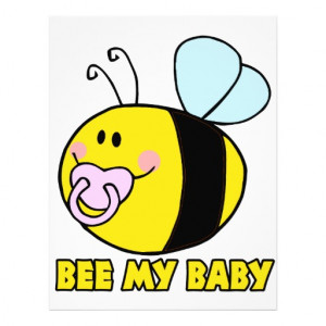 bee_my_baby_cute_baby_bumble_bee_flyer ...