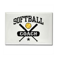 Softball Coach Rectangle Magnet for