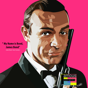 james bond quote £ 14 00 james bond quote sean connery my name is ...