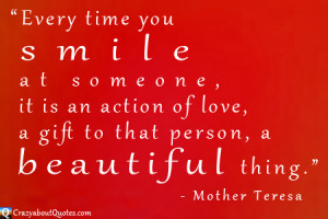 These Mother Teresa quotes contain the passion and love she showed for ...