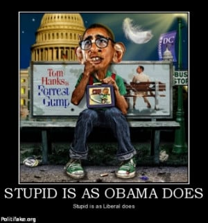 STUPID IS AS OBAMA DOES - Stupid is as Liberal does