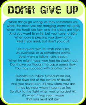 dont give up quote Quotes About Not Giving A F