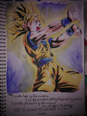 Goku quote by sleet-the-wolf