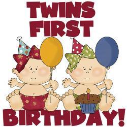 twins_1st_birthday_girls_greeting_card.jpg?height=250&width=250 ...