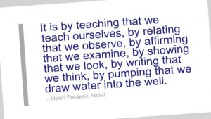 Writing Quote by Henri Frederic Amiel