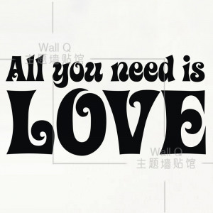 it ] All you need is LOVE Romantic Italy HOT Quote wall decals Quotes ...