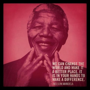 change the world nelson mandela picture quote