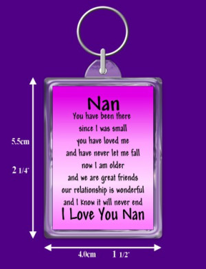 Nan Verse Keyring Keepsake Gift