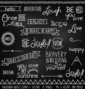 Chalkboard Quotes Clipart Clip Art, Chalk Board Words Clipart Clip Art ...