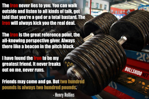 The Iron - Henry Rollins ...Bullshido.net