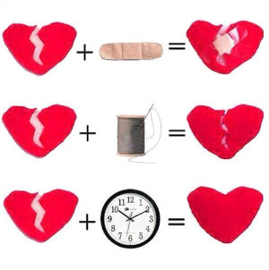 only time can heal a broken heart...