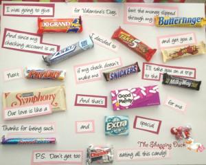 The Shopping Duck - Candy Bar Sayings Card